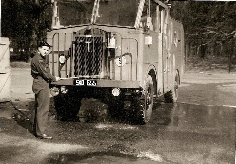 RAF Worksop, fire Service, 4 FTS, Thornycroft Mk.5a