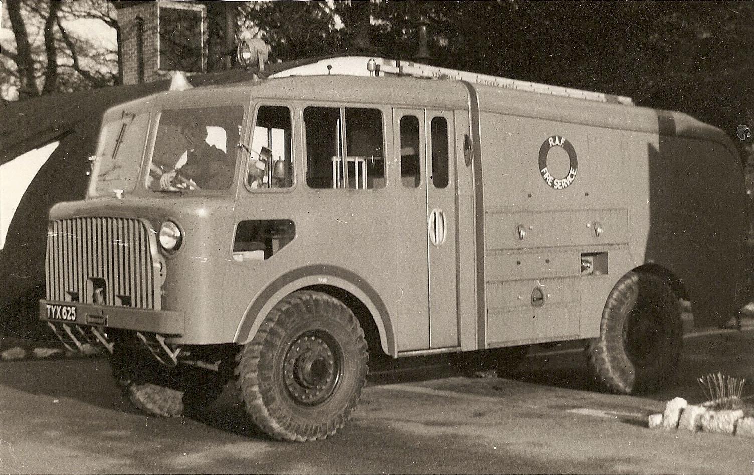 RAF Worksop, RAF Fire Service, Thornycroft