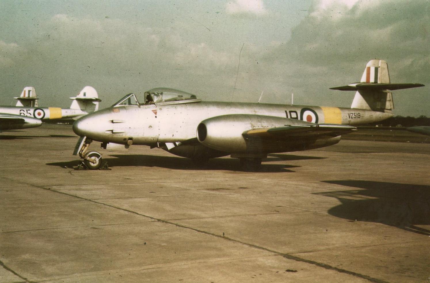 RAF Worksop, RAF Scofton, VZ519, Meteor, Gloster, 211 AFS