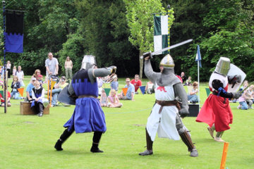 Knights jousting at Towneley