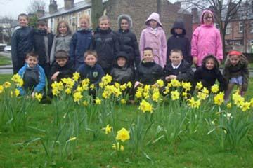 School children visited the Park