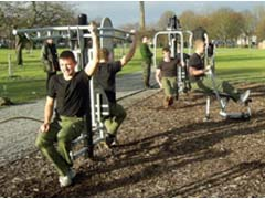 Fitness Equipment in use