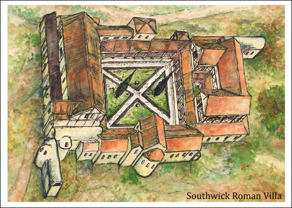 Southwick sussex society southwick roman villa for Southwick storage