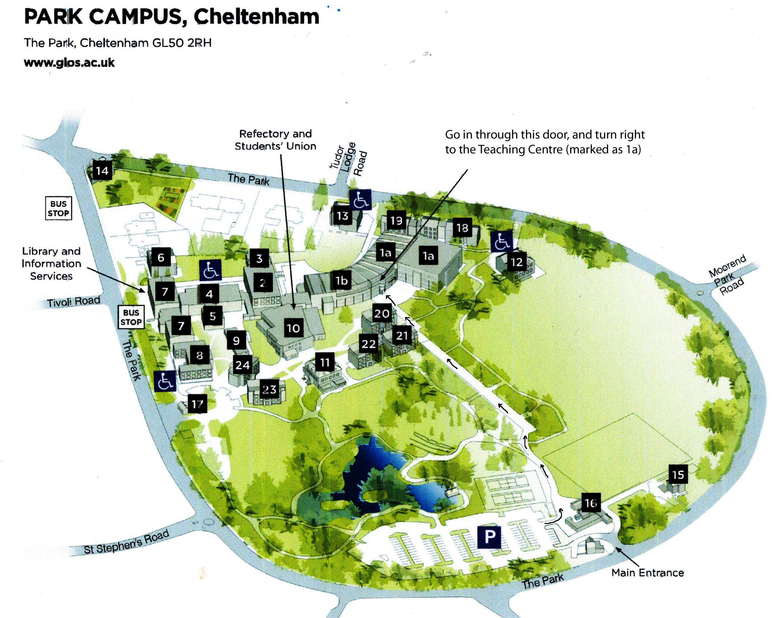 Park campus map  - route from car park to meeting room.jpg