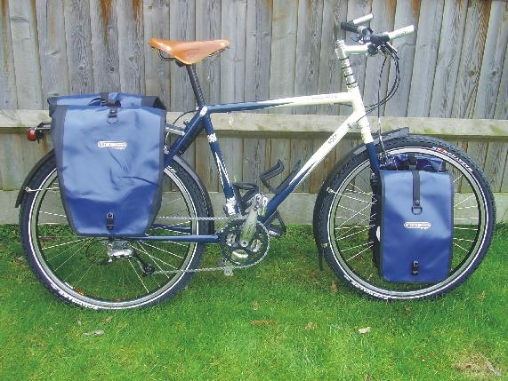 Kat's bike with panniers