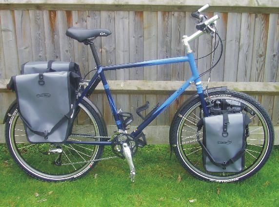 Richard's bike with panniers
