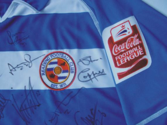 Signed Reading FC Coca-Cola Championship Shirt
