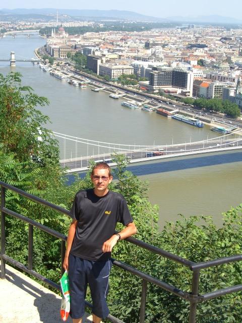 Richard posing in Budapest