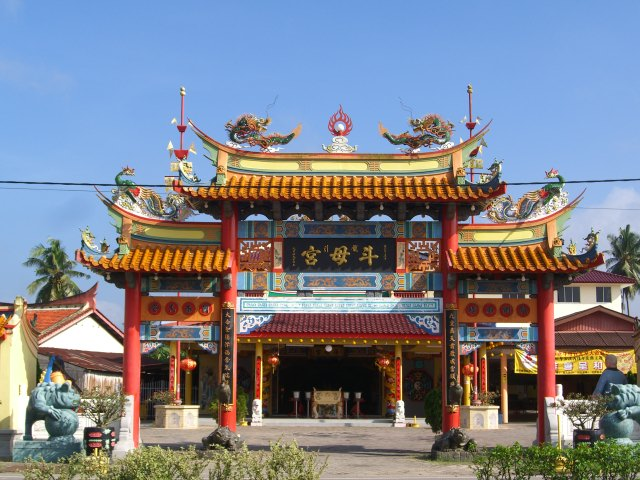 A temple on the road to Batu Pahat