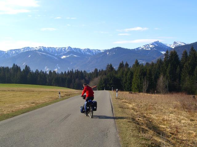 Heading towards the Bavarian Alps