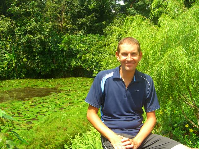 Richard at the Botanic gardens