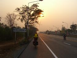 Sunrise heading to the Lao border