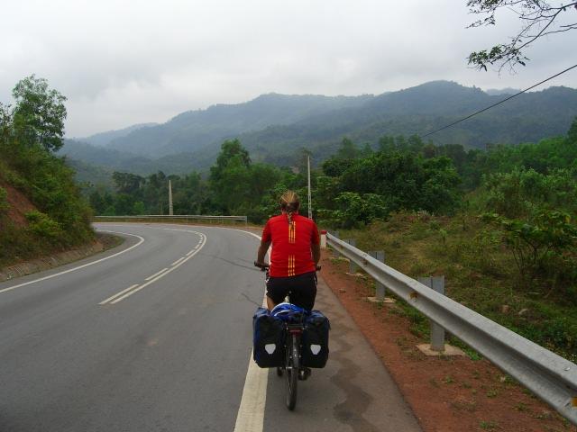 Heading east towards Hue.