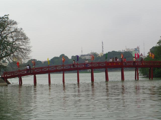 Lake Hoan Kiem in Hanoi.