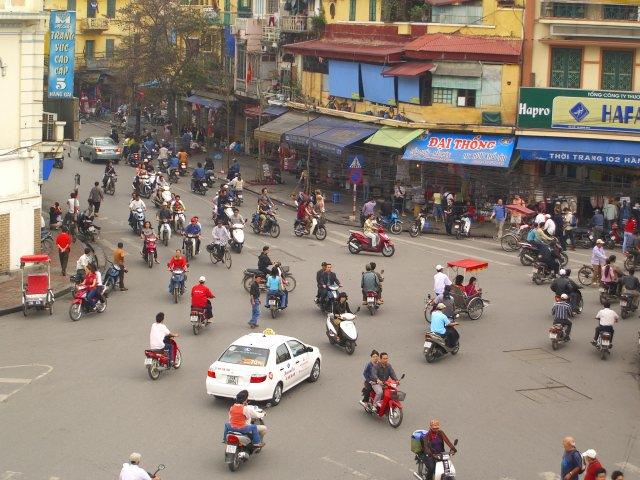 A quiet day in Hanoi.