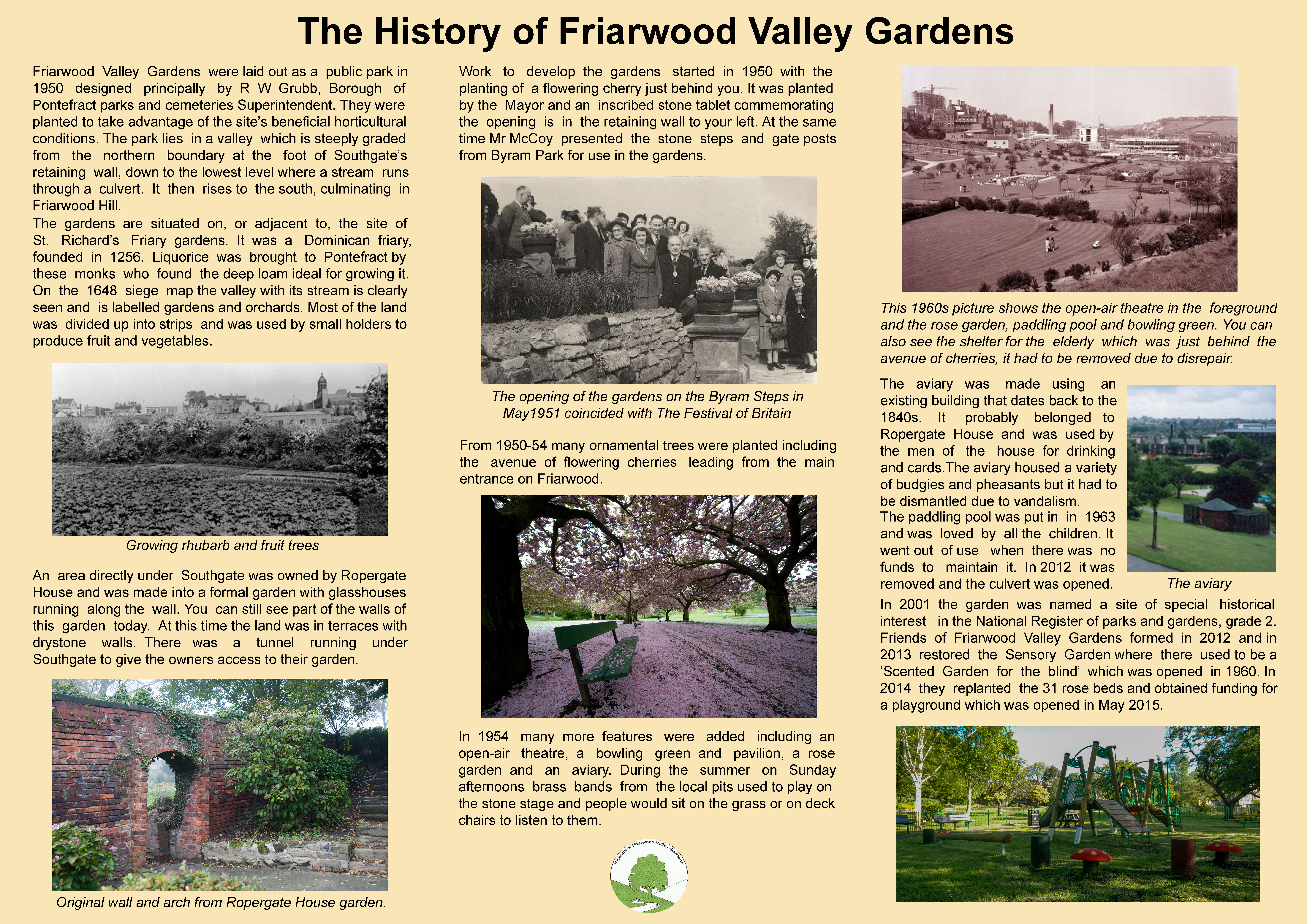 Friends of friarwood valley gardens information boards for Garden information sites