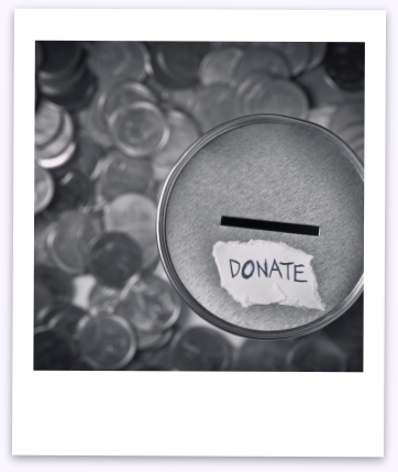 Photo of donation box