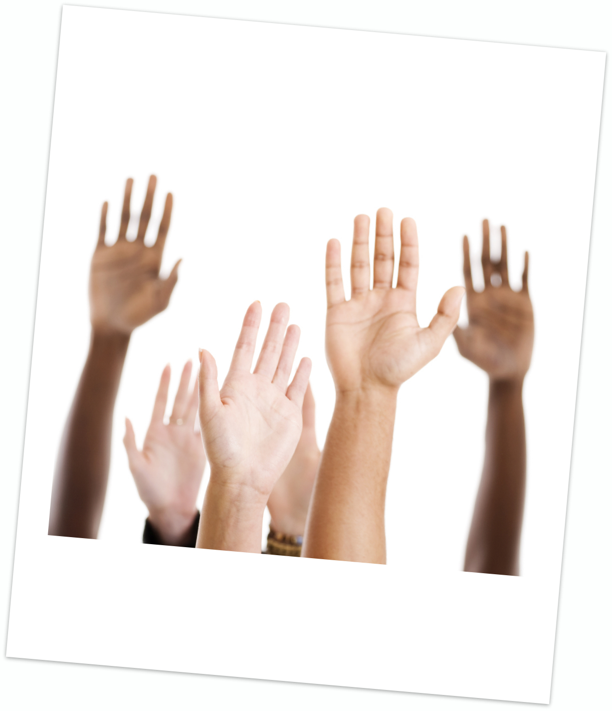 Photo of hands in air
