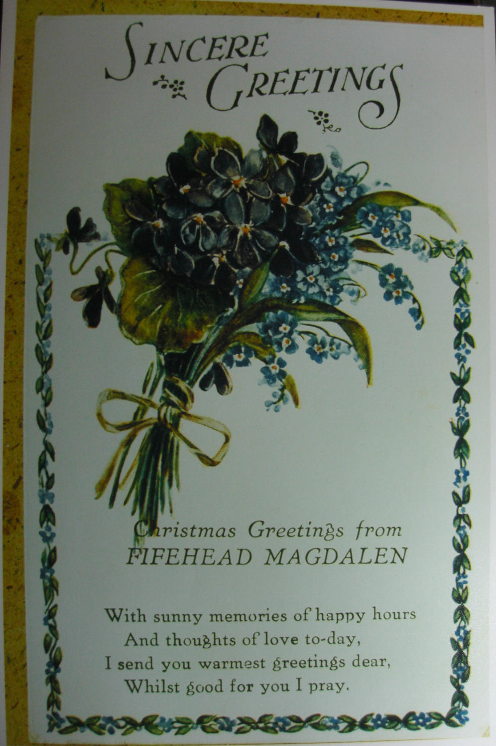Front of the Christmas postcard