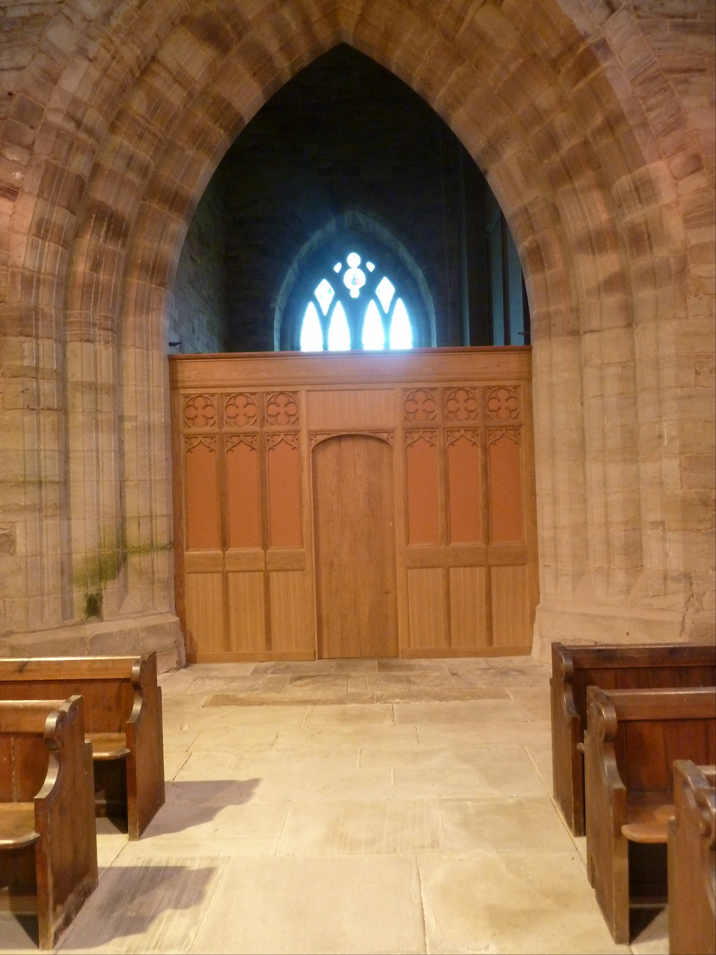 New door to the Vestry area now housing the long awaited WC's