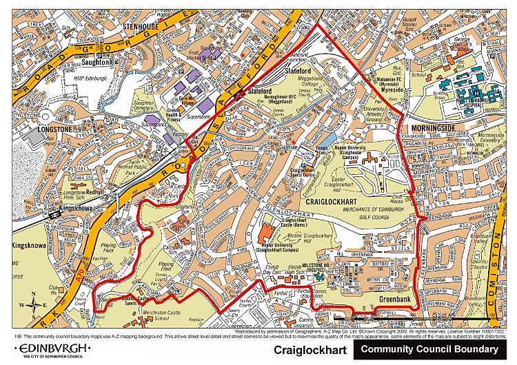 Craiglockhart Community Council Boundary