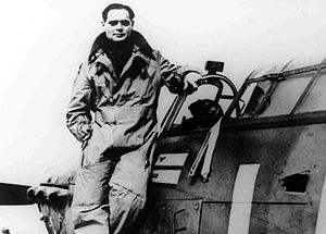 RAF pilot Baden in uniform