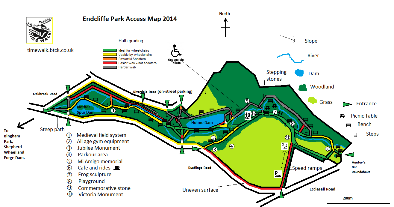 Time Walk Project Access Map Endcliffe Park