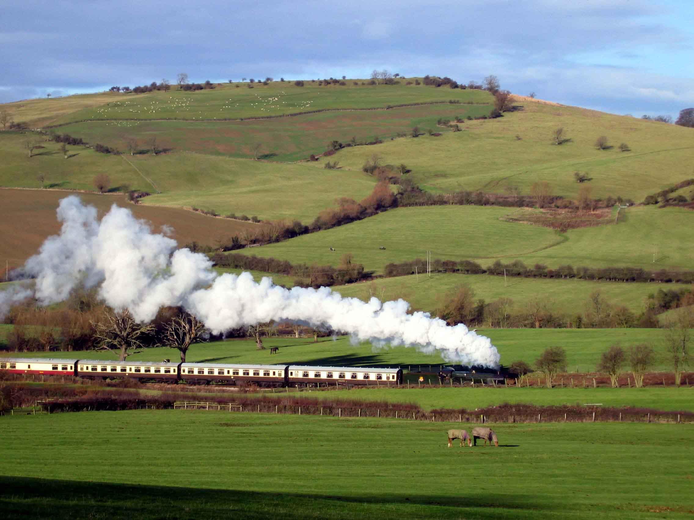 Image result for cheltenham steam train hills