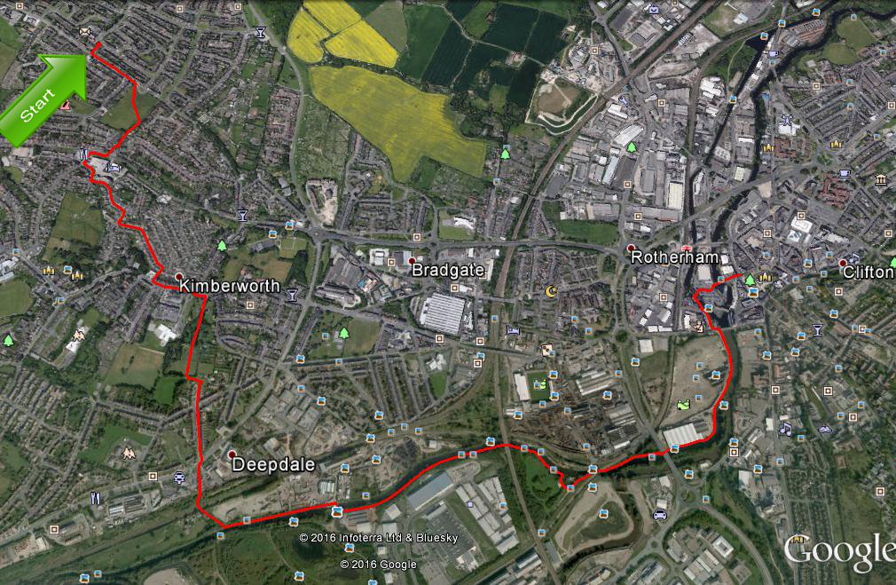 Kimberworth Park Walking For Pleasure Maps Of Our Walks