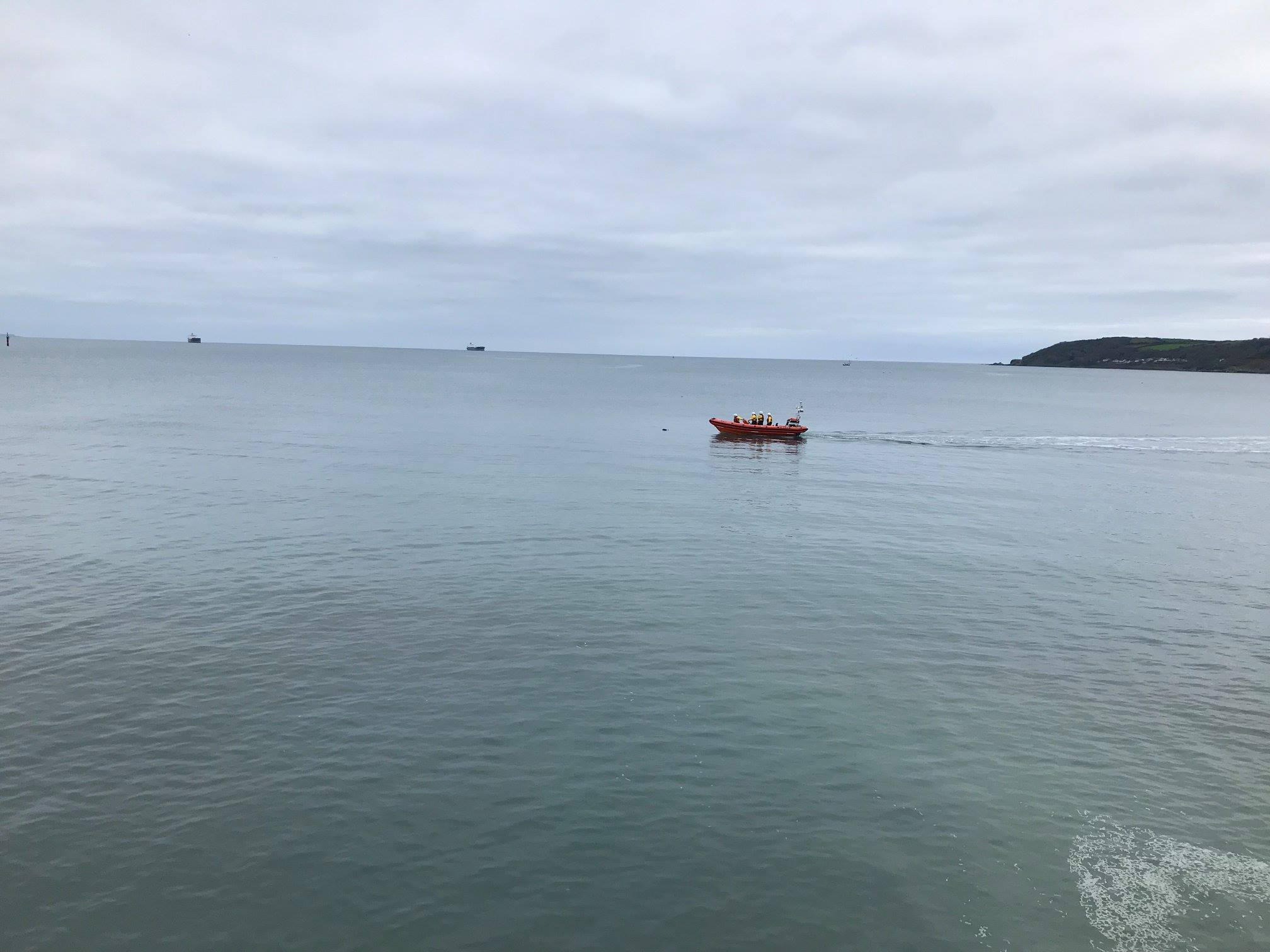 We were tasked by Falmouth Coastguard Operations Centre at 1.41pm at the  request of the Penzance Coastguard Rescue Team who had received a report of  ...