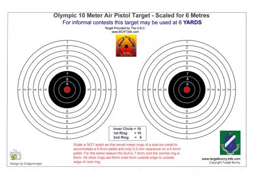 UBC Competition Website - 6yd Optical Target & Scorecard