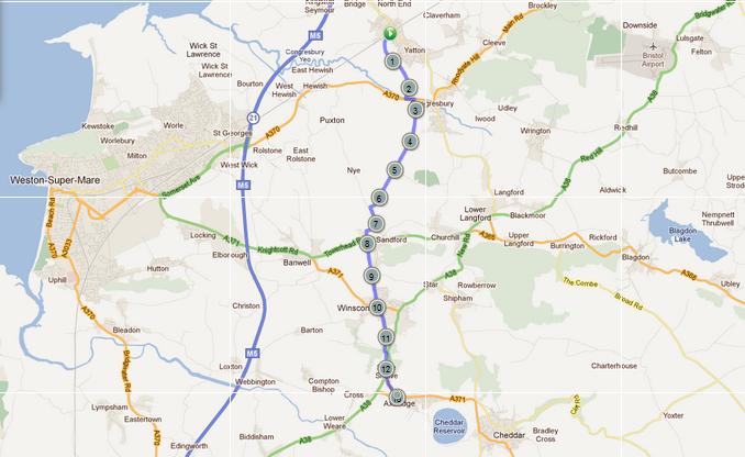 Strawberry Line Map Strawberry Metric Marathon   Route
